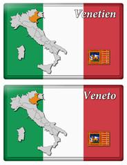 3D-Button - Geographische Regionen Italiens
