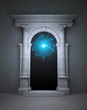 Mysterious magic portal with corinthian columns