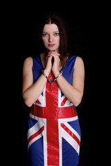 Union Jack girl in Handcuffs