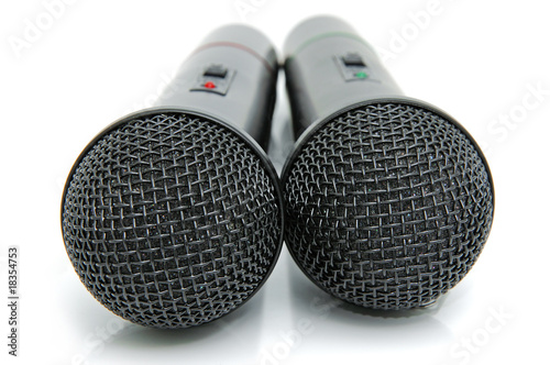 Black microphones