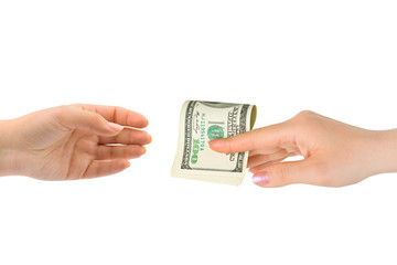 Hands and money