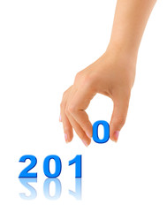 Numbers 2010 and hand