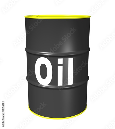 3D illustration of an oil barrel