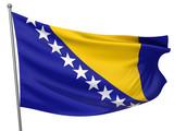 Bosnia and Herzegovina National Flag poster