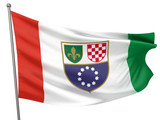 Bosnia and Herzegovina, Federation of National Flag poster
