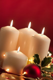 Christmas atmosphere - candles poster