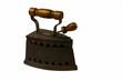 Antico ferro da stiro a carbonella