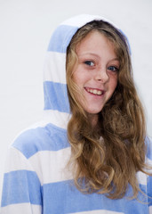 Young girl with Hoodie Smiling