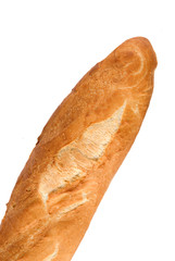 french or italian bread isolated on a white background