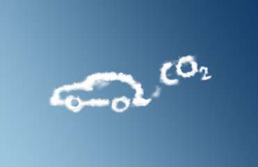 CO2 car emission cloud