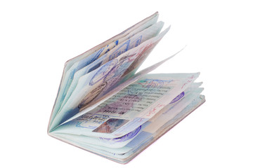 Isolated well used passport