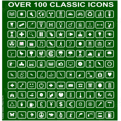 Over 100 Simple Classic Web Icons