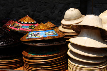 Hats on Floating Market, Thailand