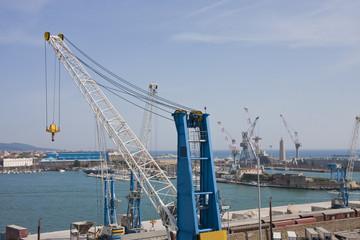 Many Cranes at Shipping Port