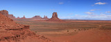 vue panoramique de monument valley