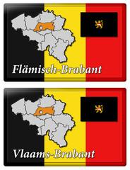 3D-Button - Regionen/Provinzen Belgiens