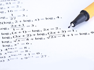 Pen and figures math