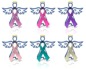 Angels outline awareness ribbons