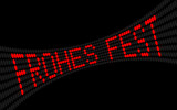 lcd-text frohes fest I poster