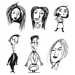 Mujer Mujeres Hombre Hombres Ilustracion Dibujo