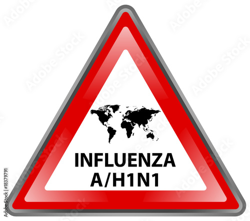 """ Influenza A / H1N1 Pandemic "" Sign (triangle - vector)"
