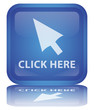 """Click Here"" Button (square - blue - vector - with reflection)"