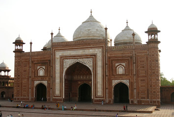 A mosque (masjid) next to Taj Mahal, Agra, India
