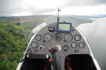 Dashboard of the flying autogyro