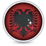 Albania flag button poster