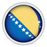 Bosnia and Herzegovina flag button poster
