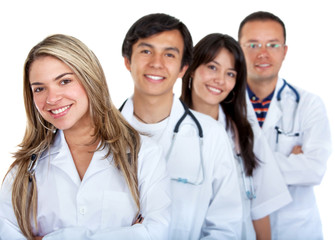Young group of doctors
