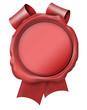 siegel seal schleife band frei ohne beschriftung blank