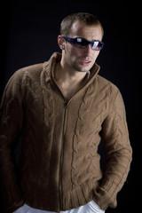 Young man wearing sunglasse