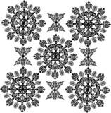 black periodic curled design poster