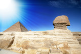 Sphinx and pyramid.