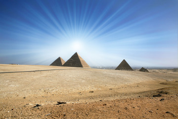Egyptian pyramids in Giza.