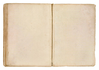 Old Book. Two Blank Pages.