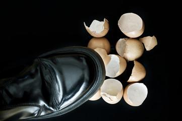 Stepping on broken eggshells