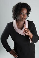 Stern Black Woman