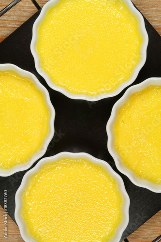 Creme brulee preparation