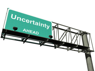Isolated Uncertainty Highway Sign