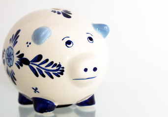 Delft Blue Piggy Bank