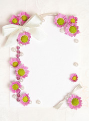 tender paper  blank with flowers design