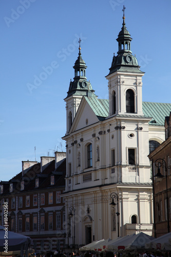 A church in Warsaw Old Town