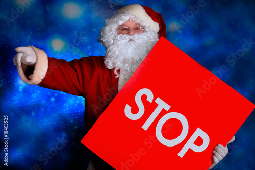Leinwanddruck Bild stop santa