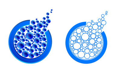 Vector logo style elements. Vector illustration contains meshes.