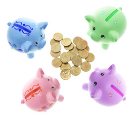 Piggy Bank swith Coins