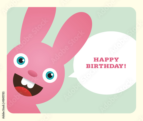 Birthday Card. Vector. No mesh.