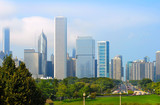 Chicago skyline lookin north down Lake Shore Boulevard poster