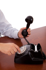 dialing a number on the telephone